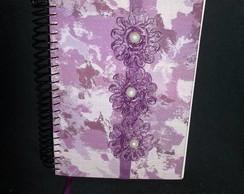 caderno decorado lil�s