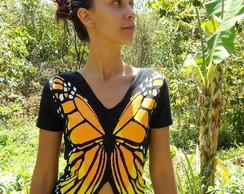 Camiseta Borboleta Monarca Frente