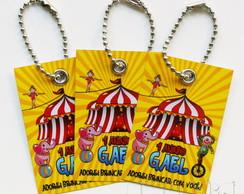 Tag Personalizado Circo - Amarelo
