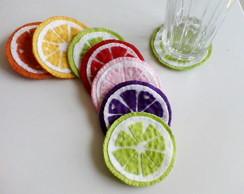 Porta copos,em feltro varias cores