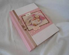 �lbum De Fotos ursinha marrom e rosa