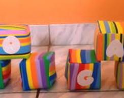 Cubos topo de bolo