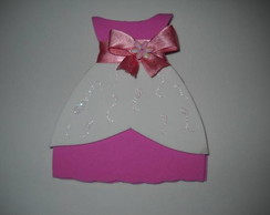 Convite vestido barbie escola princesas