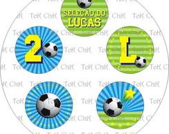 Cj 5 toppers Futebol (arte)