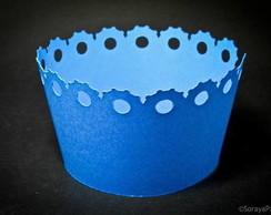 Wrapper para cupcake borda decorada I