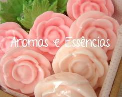 Kit sabonete de rosas e folhas