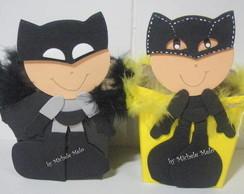 centro de mesa batman e mulher gato