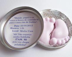 Convite Latinha com Sabonete Artesanal