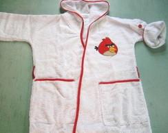 ROUP�O DE BANHO INFANTIL ANGRY BIRDS