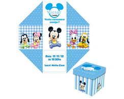 Convite Caixinha Baby Disney