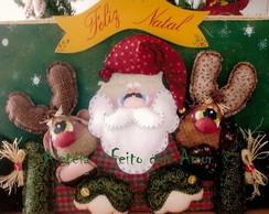 Projeto de Natal - Placa Papai Noel