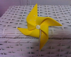 Catavento De E.v. A amarelo E Branco