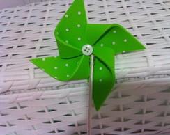 Catavento De E.v. A verde Claro E Branco