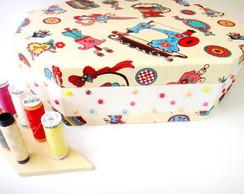 Caixa de Costura com forra��o em tecido