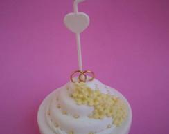 Lembran�a casamento bolo na lata