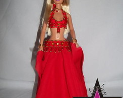 Traje Dan�a do Ventre para Barbie
