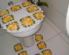 Jogo de tapetes banheiro 4 pe�as.