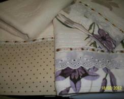 Toalhas de Banho com Patch Aplique.