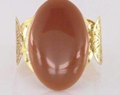 Bracelete dourado Pedra Sint�tica