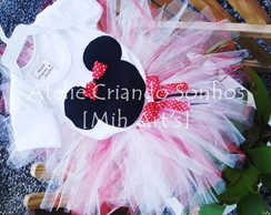 Conjunto Body e Tutu Minnie