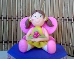 Menina borboleta - caixinha decorada