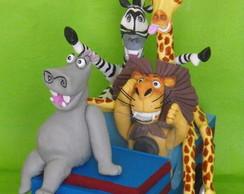 Topo de bolo Madagascar 2