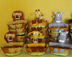 Enfeite mesa cesta vime Madagascar