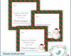24 Etiquetas Personalizada Noel Duo
