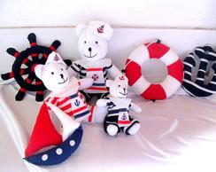 Kit Decora��o de Festa Ursos Marinheiros