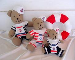Kit Ursos Decora��o de Festa Marinheiro