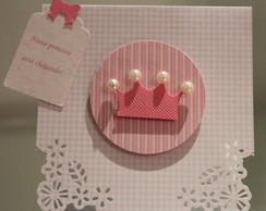 Convite ch� de beb� princesa