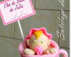 Ch� de beb� - lembrancinhas em biscuit
