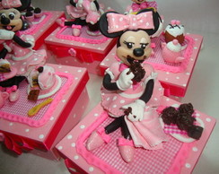 Minnie confeiteira/minnie pink baker
