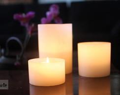 Conjunto lumin�ria com vela interna.