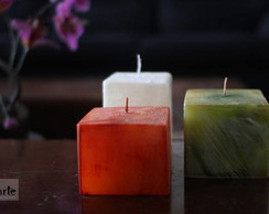 Velas quadradas maci�as,.