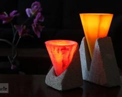 Lumin�rias com vela interna