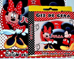 Revista kit de Colorir Minnie e Mickey