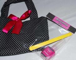 Kit Manicure - Preto e pink