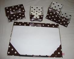 Kit B�sico para escrit�rio em cartonagem