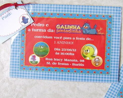 Convite Infantil: Galinha Pintadinha
