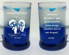 Caneca Personalizada Com Gel Azul
