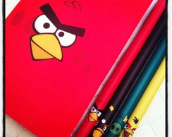 Bloco e l�pis Angry Birds
