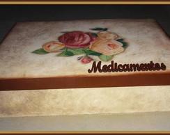 Caixa de Medicamentos Floral