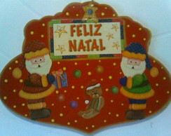 Placa natalina vermelha-VENDIDA