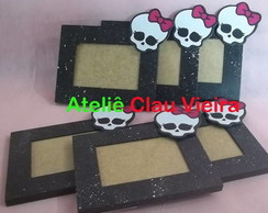 PORTA RETRATO CAVEIRA MONSTER HIGH