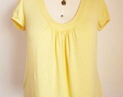 Camiseta Amarela Plus Size