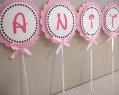 Toppers para cupcake Minnie