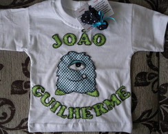 Camiseta monstrinho