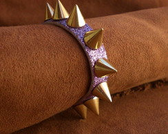Pulseira Shine Spikes Lilas Ref:00213