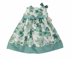Vestido Infantil Floral verde. 26D027